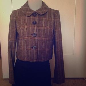 Brown j crew blazer