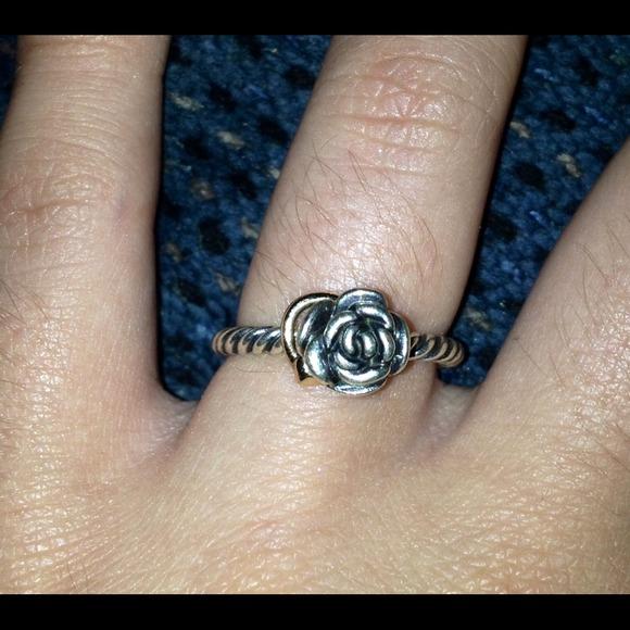 pandora rose and heart ring