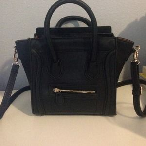 celine mini luggage black with red piping - 20% off Handbags - Celine inspired nano bag from Kathleen\u0026#39;s closet ...