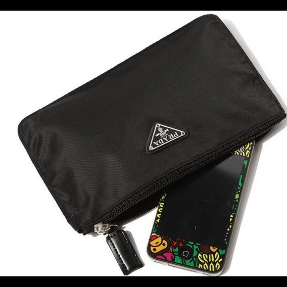 75% off Prada Accessories - Prada Cosmetic/Cellphone Black Nylon ...