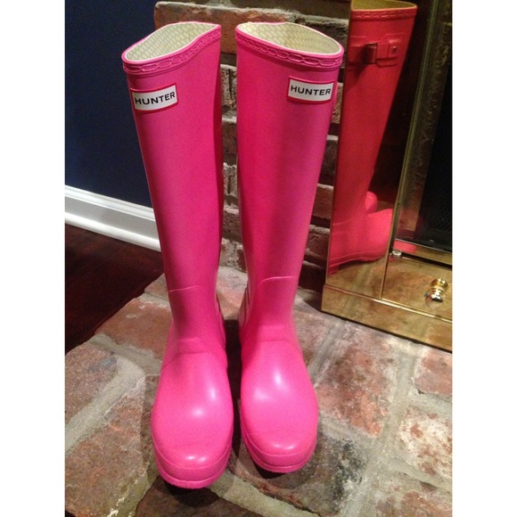 Hot Pink Rain Boots - Cr Boot