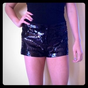 EXPRESS black sequin shorts!