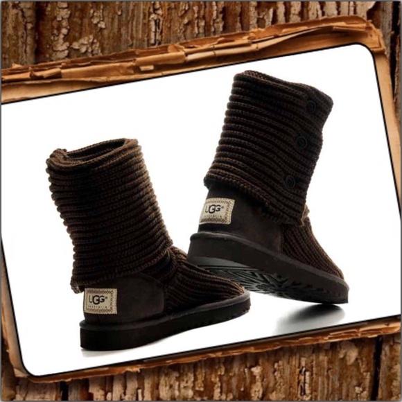 ugg australia cardy classic knit boot
