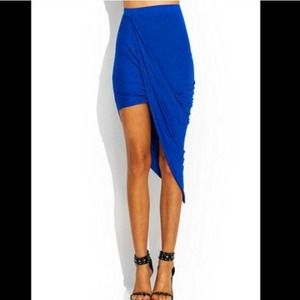 NEW Gorgeous Royal Blue Wrap Draped Maxi Skirt🎀