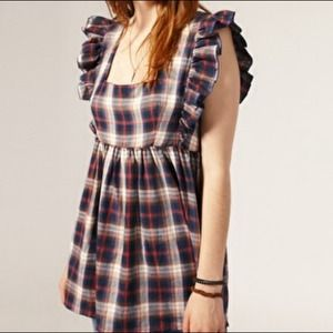 ASOS check top with ruffle