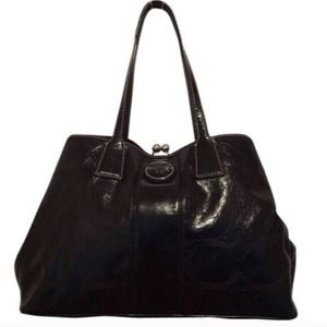 Coach Handbags - Final Price - Coach F15658 Leather Black Tote Bag