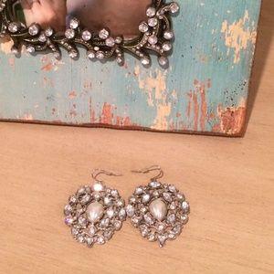 bebe Jewelry - Rhinestone pearl earrings
