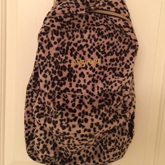 JanSport - JanSport brown leopard print soft backpack from Stara's ...
