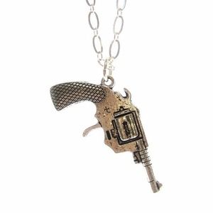Jami Rodriguez gun necklace