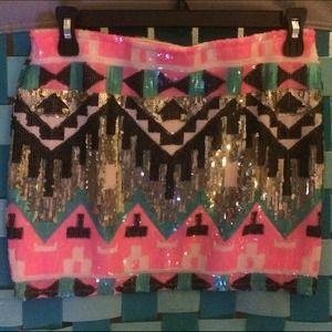Dresses & Skirts - Tribal sequin skirt