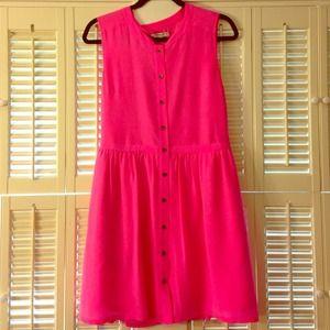 Madewell hot pink dress