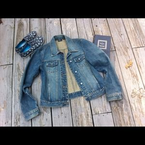 New York Jeans NY & Co classic denim jacket S