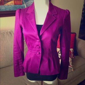 Purple jacket by H&M. 