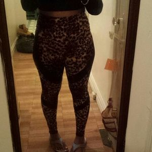 Pants - High waist leopardprint