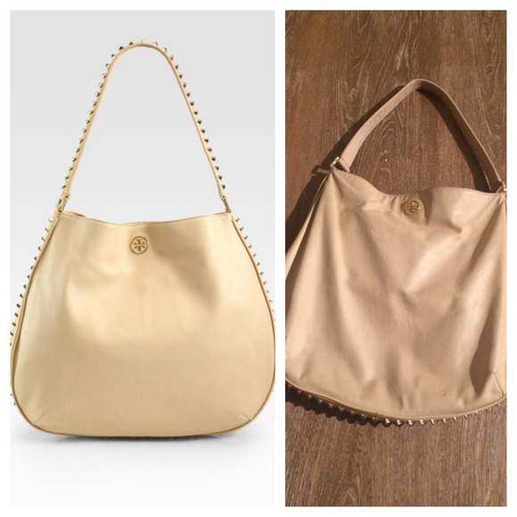 7ca8f0310dc8 Tory Burch Hobo gold Pyramid stud. M 541d194e21bf8d017e03732a. Other Bags  ...