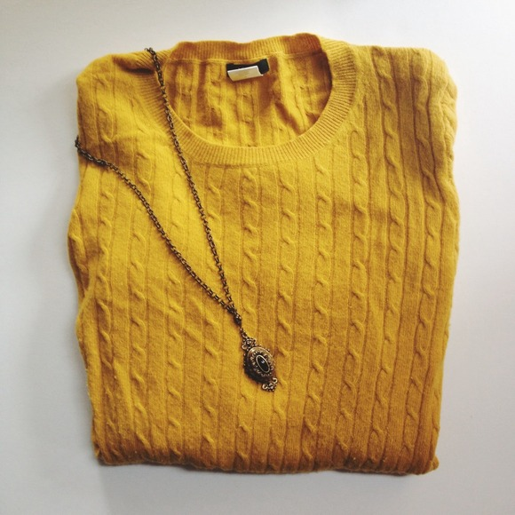 J. Crew - ⚡️SALE⚡️J.Crew Mustard Yellow Cable Knit Sweater ...