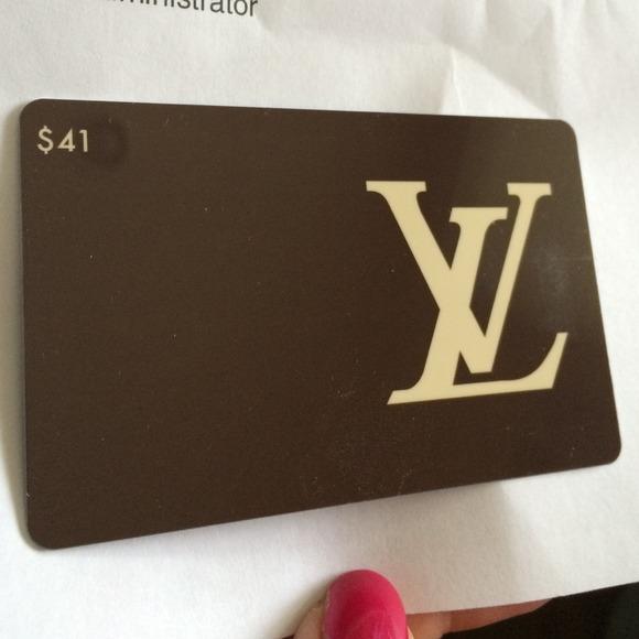 57% off Louis Vuitton Handbags - $41 Louis Vuitton gift card x 2 ...