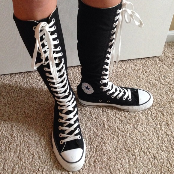 e81dfe8f48d3 Converse Shoes - Knee hi black converse All star!