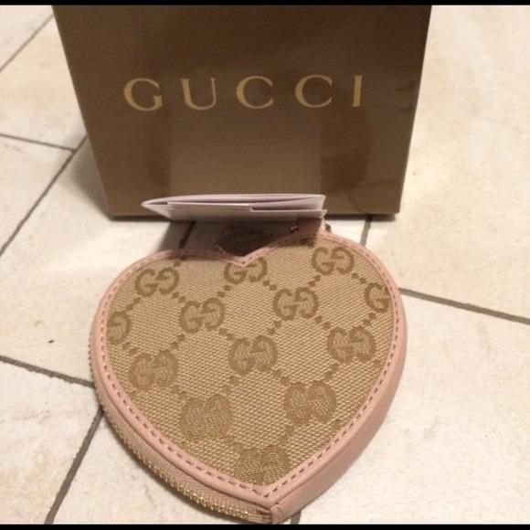 1473d1784ea NWT Gucci Heart coin purse