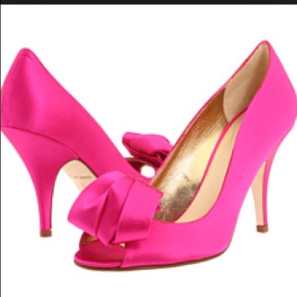 399ed6c1f93 kate spade Shoes - 🎉5x HP 🎉Kate Spade Clarice Hot Pink Satin heels