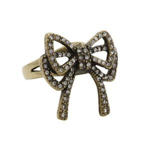 Betsey Johnson Crystal Bow Ring