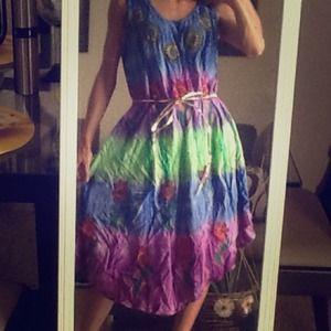 Beautiful Tie dye Batik Dress One Size. 