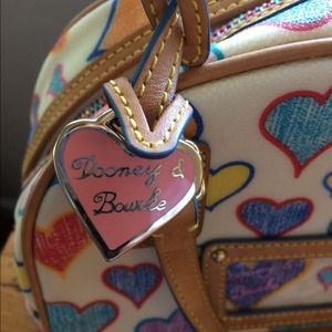Adorable heart Dooney and Bourke mini satchel