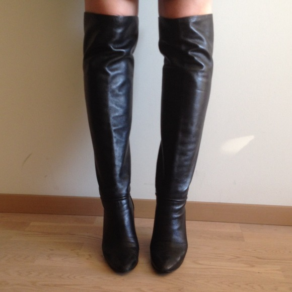 86% off Giuseppe Zanotti Boots - Lamb Leather Over The Knee ...