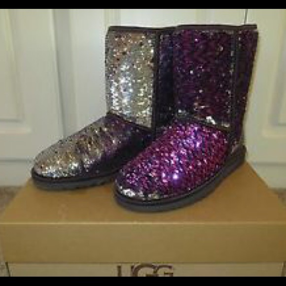 212bcaddb13 Purple Sparkle UGGs!!!💕 $125 on ♏️ercari