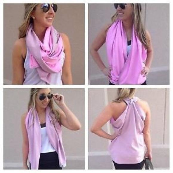 Lululemon Athletica Vinyasa Scarf Vintage Pink Tri Tonka