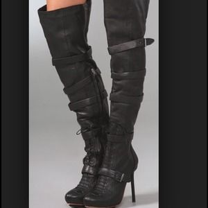L.A.M.B. Shoes - L.A.M.B. Glamette Thigh High Boots