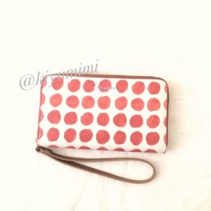 Coach E/W Phone Case in Painted Dot Coated Canvas