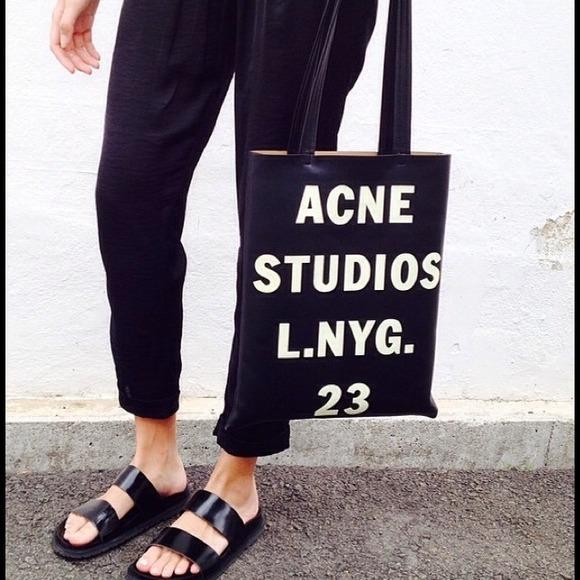 acne tote bag
