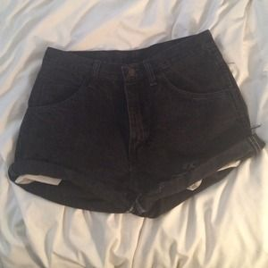 Denim - Black high waisted shorts size 28