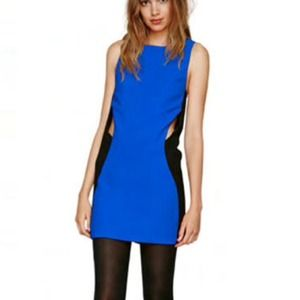 Black & Blue Cut Out Dress