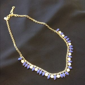 J.Crew blue and crystal necklace