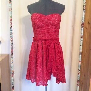 Jill Stuart Strapless Red Dress