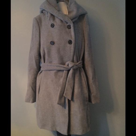 38% off Zara Outerwear - Zara Wool Blend Hooded Belted Coat from ...