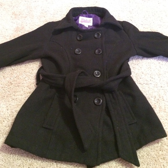 84% off Outerwear - Girls black pea coat! from Amanda's closet on ...