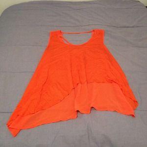 Tops - Asymmetrical high low orange top