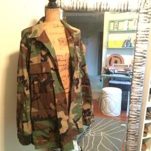 Jackets & Blazers - Authentic Army camouflage military jacket bdu
