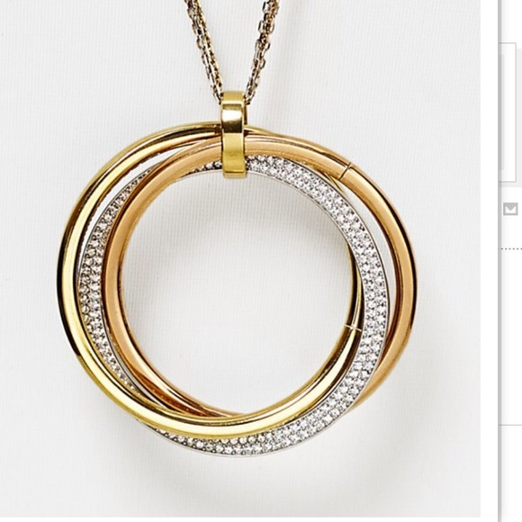 39 off michael kors jewelry michael kors tri tone pendant michael kors tri tone pendant necklace mozeypictures Image collections