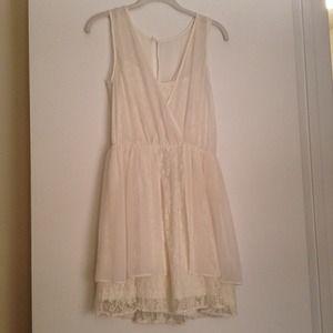 ASOS Dresses & Skirts - Asos cream chiffon and lace dress
