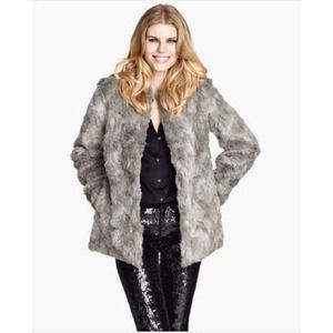 H&M Outerwear - H&M Faux Fur Coat