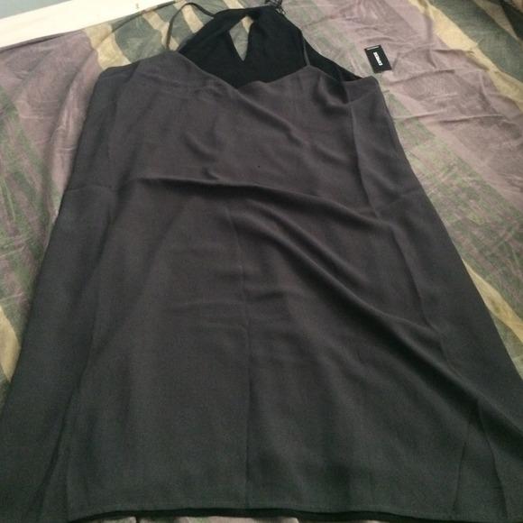 1689e3ba7278 Express Dresses | Reversible Black Grey Swing Dress | Poshmark