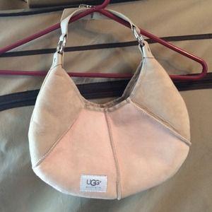Ugg Tan and Pink Hobo Bag BRAND NEW
