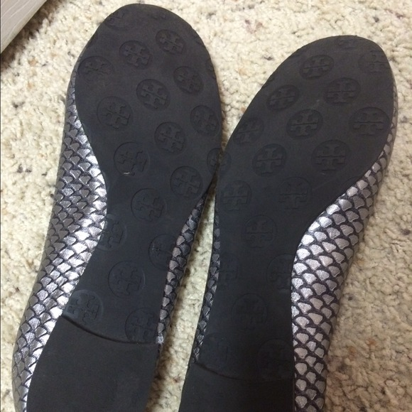 44 off tory burch shoes tory burch fish scale flats for Fish scale boots