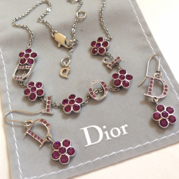 Dior Jewelry   Set Auth Earrings Necklace