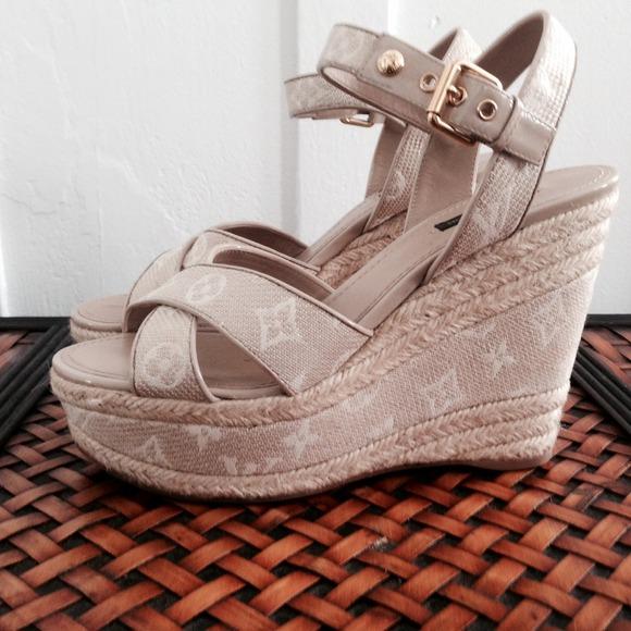 d9b9f052290 Louis Vuitton Shoes - Louis Vuitton Formentera Wedges Sandal in Monogram