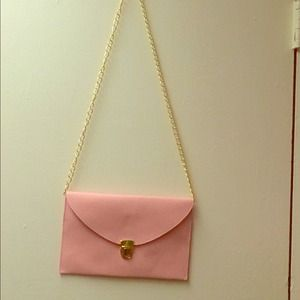 Pink envelope purse or clutch